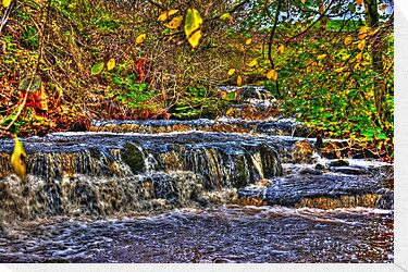 Waterfalls at Kearton (HDR) by Trevor Kersley