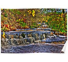 Waterfalls at Kearton (HDR) Poster