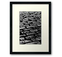 Cobbled Together - Covent Garden - London Framed Print