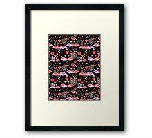 beautiful pattern lovers flamingos Framed Print