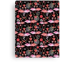 beautiful pattern lovers flamingos Canvas Print