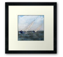 Sail A Vie  ~ inside current~ Framed Print