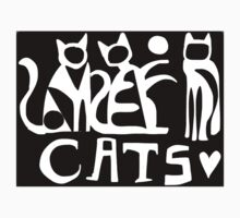 Cats black and white  Kids Clothes