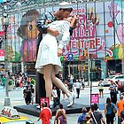 V-J Day in Times Square 65 years later (aka The Kiss) by RonnieGinnever
