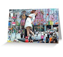 V-J Day in Times Square 65 years later (aka The Kiss) Greeting Card