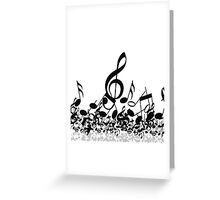 Music Note's BW 2 Greeting Card