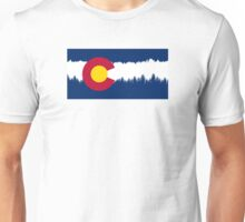 Colorado Flag Treeline Silhouette Unisex T-Shirt