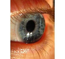 Blue Eye Macro Photographic Print