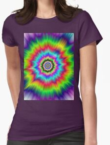 Psychedelic Explosion Womens Fitted T-Shirt