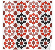 Red Color Tiles Poster