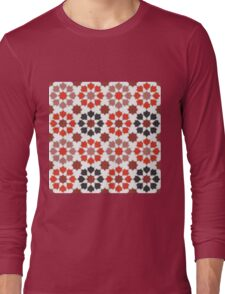 Red Color Tiles Long Sleeve T-Shirt