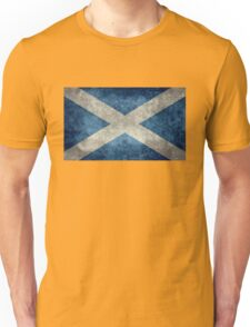National flag of Scotland - Vintage version Unisex T-Shirt