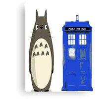 Totoro meets the tardis Canvas Print