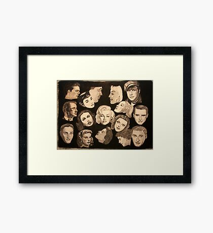""""""" Famous Faces of Films Past"""" Framed Print"""