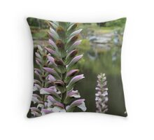Lavender, White, and Green Throw Pillow