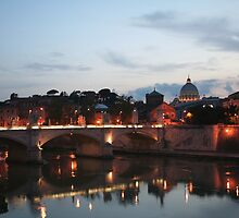 St. Peters at dusk, Rome/Italy by hjaynefoster
