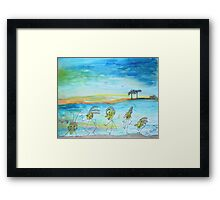 A day at the beach.. Framed Print