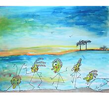 A day at the beach.. Photographic Print