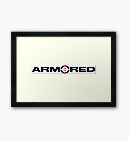 Armored Crosshair Framed Print