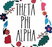 Theta Phi Alpha Flower Wreath by Margaret Young