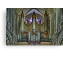 Notre-Dame de Bayeux -The Big Organ Cavaillé-Coll Canvas Print