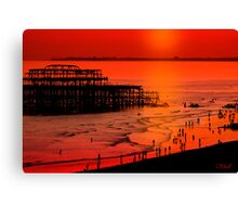 Brighton Sunset Canvas Print