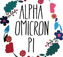 Alpha Omicron Pi Flower Wreath by Margaret Young