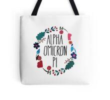 Alpha Omicron Pi Flower Wreath Tote Bag