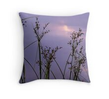 Silouetted Against the Purple Sky Throw Pillow