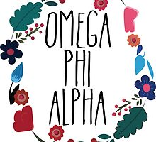 Omega Phi Alpha Flower Wreath by Margaret Young