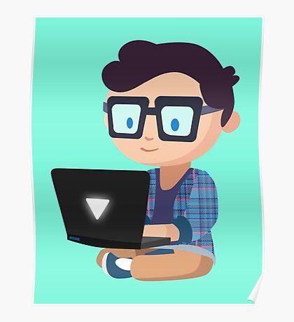 Cute Geek Poster