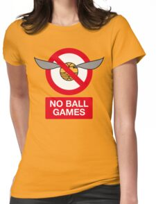 Harry Potter No Ball Games Womens Fitted T-Shirt