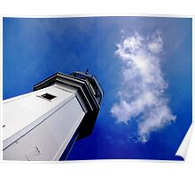 Lighthouse with GB cloud Poster