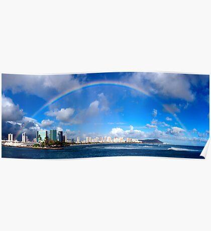Aloha Rainbow Poster