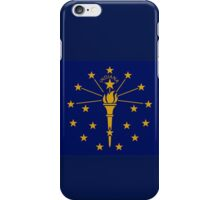 Indiana State Flag Indianapolis USA Bedspread T-Shirt Sticker iPhone Case/Skin