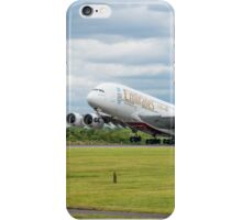 Emirates Airbus A380 Takeoff iPhone Case/Skin