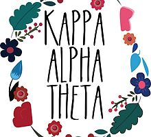 Kappa Alpha Theta Flower Wreath by Margaret Young