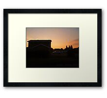 Somebodies elses home Framed Print