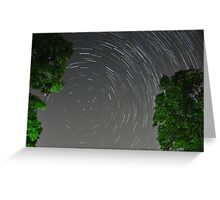 Roof Top Star Trails Greeting Card
