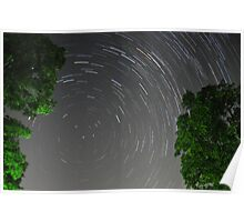 Roof Top Star Trails Poster