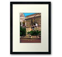 Washington Square Arch, Greenwich Village, NYC, NY Framed Print