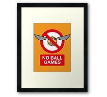 Harry Potter No Ball Games Framed Print