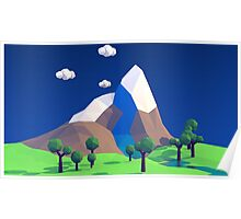 Low Poly Mountains Poster