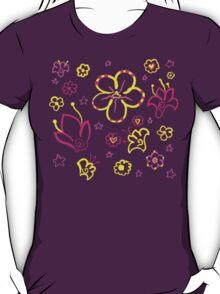 Retro Florals-Pink Lemonade Palette T-Shirt