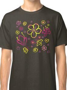 Retro Florals-Pink Lemonade Palette Classic T-Shirt