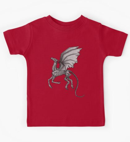 Thestral #2 with Gray Background Kids Tee