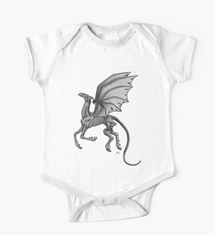 Thestral #2 with Gray Background One Piece - Short Sleeve