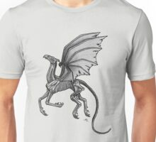 Thestral #2 with Gray Background Unisex T-Shirt