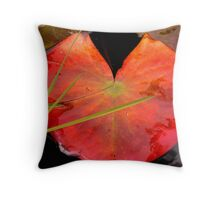 water lily pad Throw Pillow
