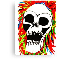 THE SCREAMING SKULL Canvas Print